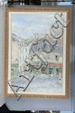 Louis Rosan, Rue la Lappe, Oil on Canvas, Od: 60 H x 45 1/2 W Id: 50 H x 34 W