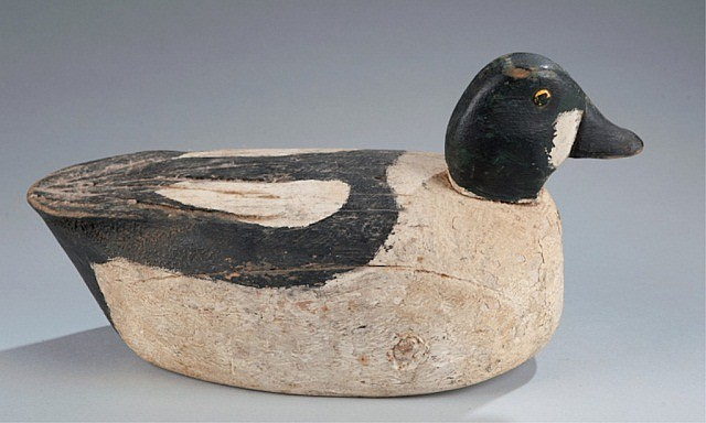 Duck Decoy Painted as a Golden Eye