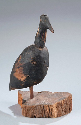 Early Shore Bird Decoy on Stand