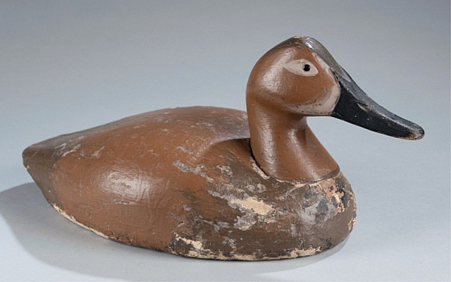 Balsa Wood Canvas Back Hen Duck Decoy