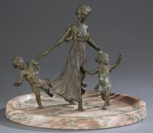 Viennese Cold Painted Bronze Figural Group