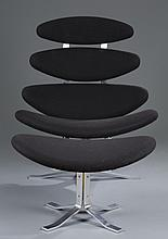 Paul Volther Corona Chair and Footstool