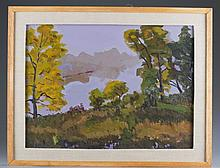Woodland Scene By Ross E. Arkell