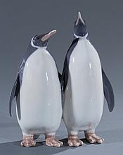 Royal Copenhagen Double Penguin Figurine