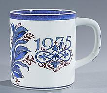 Two (2) Royal Copenhagen  Faience Mugs