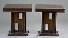 Pair of Ebonized Modernist End Tables