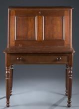 19th c. Walnut Secretary Fall-Front Desk.