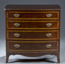 20th c. Sheraton-Style Chest of Drawers.