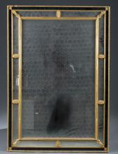 Baroque-Style Painted & Gilt Mirror.