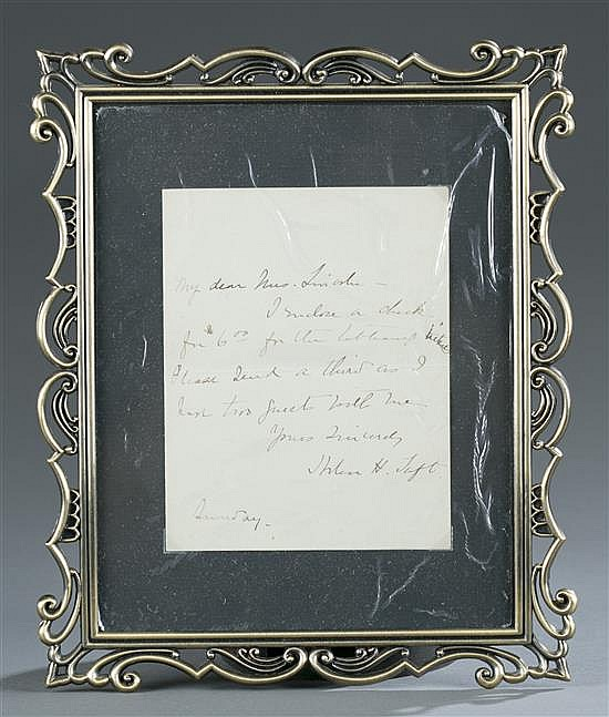 William H. Taft Letter