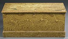 Yellow Grain-Painted Pine Blanket Chest
