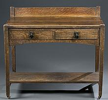 19th c. American Oak Dry Sink