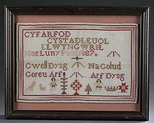 Welsh Sampler c.1887