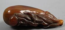 A Chinese Horn Carving