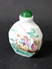 19TH/20TH C A CHINESE ROSE FAMILLE PORCELAIN SNUFF BOTTLE