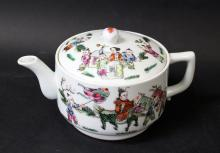 19TH/20TH C A CHINESE ROSE FAMILLE PORCELAIN TEA POT