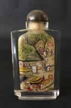 A CHINESE CHRISTAL SNUFF BOTTLE