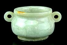 Chinese Jadeite Carved Censer Qing/Republic Period