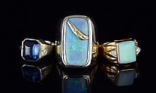 Group of 3 14K Tanzanite Opal Rings