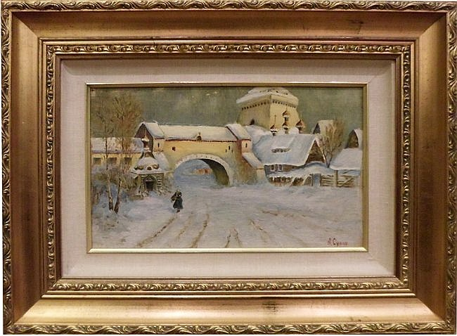 25: Russian Winter Scene