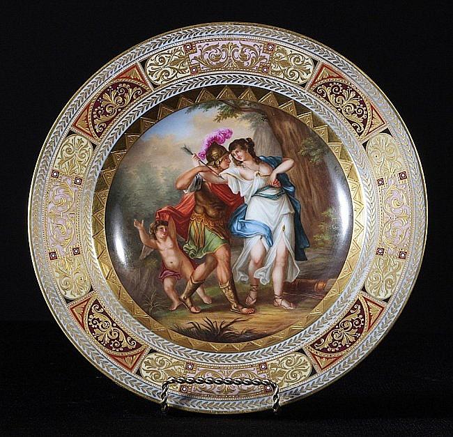 56: Fine Scenic Royal Vienna Plate