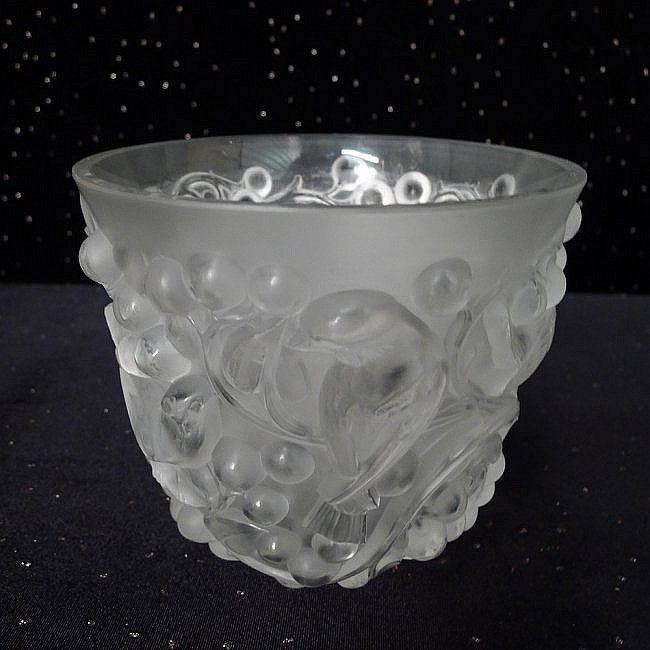 3: Signed Lalique Vase