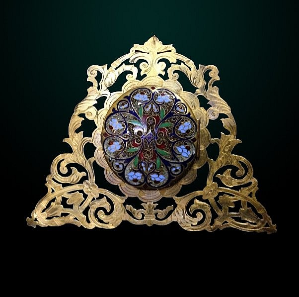 11: 19th Century Enameled Picture Frame