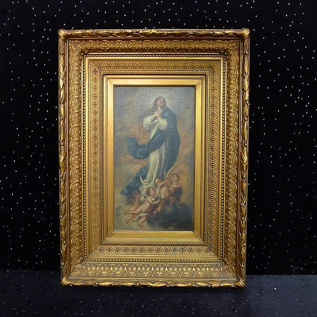 14: Oil on Panel of Madonna