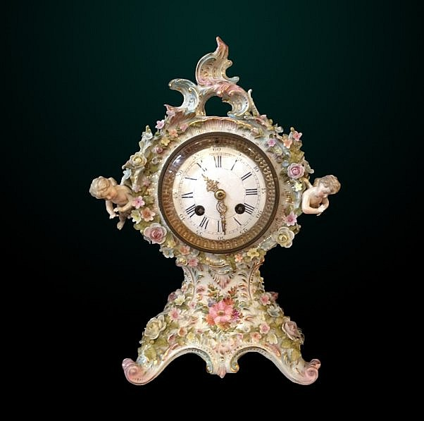 16: 19th Century German Porcelain Figural Clock