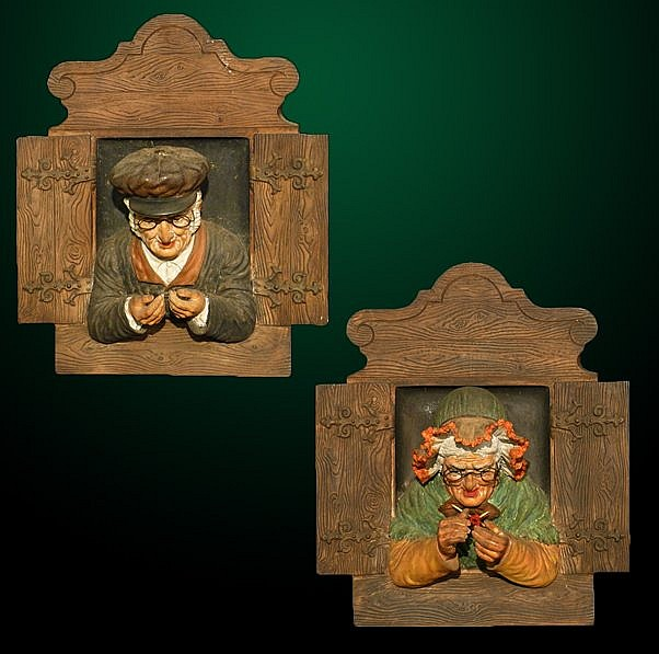 19: Pair of 19th Century Terra Cotta Plaques