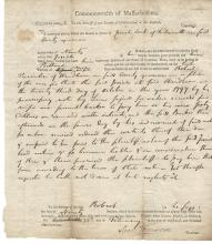 Revolutionary War Patriot, Politician Samuel Freeman Signs Legal Document Twice