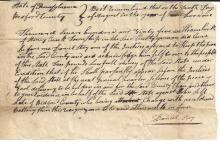 PA Pioneers Dodged Indian Attacks, Dealt with Rioters; Assault and Battery -- Two Early Documents