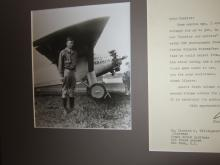 Charles Lindbergh Grateful to Tillinghast for Photos for Wife's Book; Spirit of St. Louis