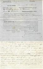 Georgia Supreme Court Delves into Decades-Old Slave Case; Future Confederate Captain O.C. Gibson Writes, Signs Court Document