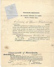Early MA Documents: Oath of Allegiance, Sale of Blacksmith Shop, Farm Animals