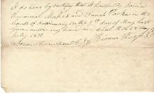 Jackson County, Indiana, Early Settler, Clerk, Signs 1831 Marriage Certificate