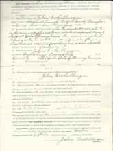 Hopewell House Petition, Bond for Liquor Tavern with Revenue Stamps; Ex-Civil War Captain