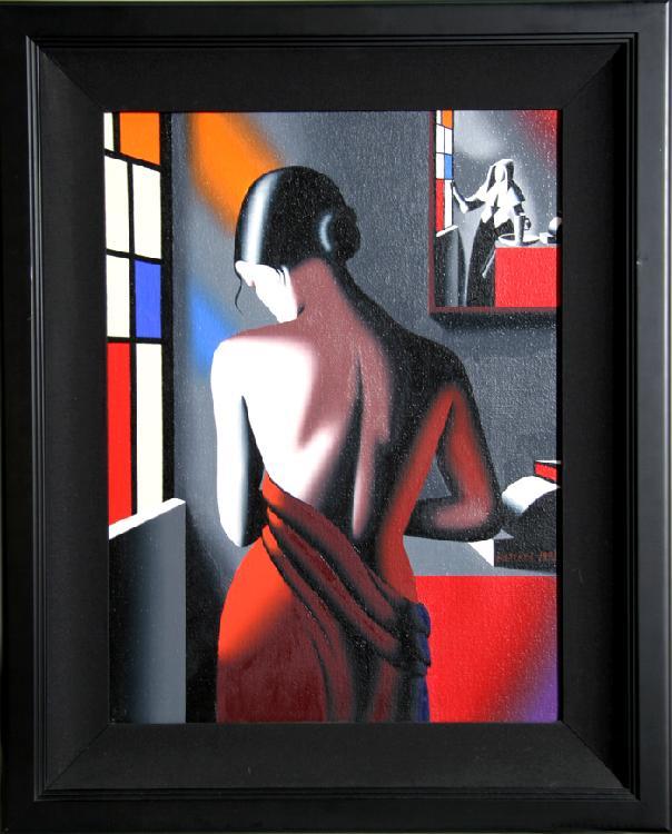 Mark Kostabi, Progress of Beauty (Hidden Agenda), Oil Painting