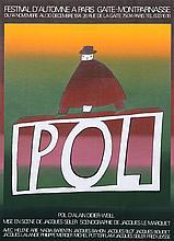 Jean-Michel Folon, Pol, Serigraph Poster