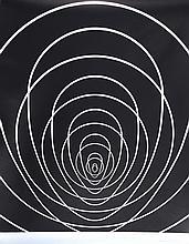 Clarence Holbrook Carter, Mandala (Black and Silver), Silkscreen