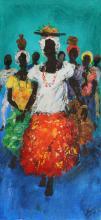 Bahian Women, Tropical Island Oil Painting
