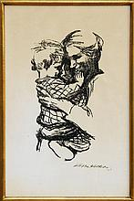 Kathe Kollwitz, Mother and Child II, Lithograph