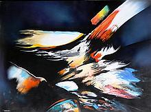 Leonardo Nierman, Untitled 3, Oil Painting