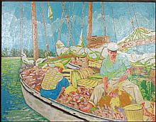 Russ Elliott, Bahamas Fisherman, Oil Painting