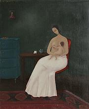 Branko Bahunek, Mother and Child - II, Oil Painting