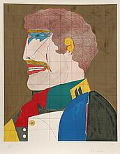 Richard Lindner, Profile from the After Noon Portfolio, Lithograph