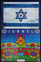 Peter Max, The Israel 50 Celebrations, Poster