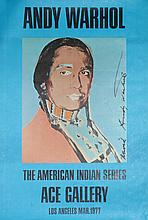 Andy Warhol, The American Indian Series: Ace Gallery, Poster