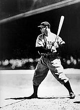 Lou Gehrig at Bat, New York Yankees, Photograph