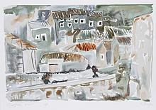 Bogdan Grom, Roof Top View, Lithograph